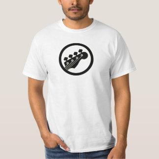 T-shirt Couleur noire de accord de clés du bassiste 4