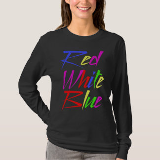 T-shirt Couleurs fausses Trippy - bleu blanc rouge