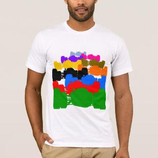 T-shirt Coupes-circuit vintages psychédéliques multiples