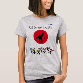T-shirt Coupes écossaises de chats de l'indépendance pas