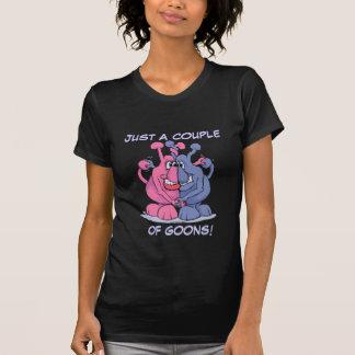 T-shirt Couples/obscurité de crétin