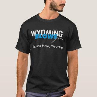 T-shirt Coups du Wyoming/Jackson Hole/noir