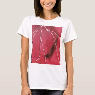 T-shirt Coupure de marbre pour aquarelle rouge foncé