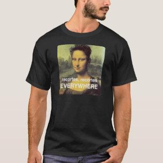 T-shirt coupures qui affectent même la Mignonne lisse