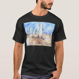 T-shirt Coureurs de Blokart sur la plage