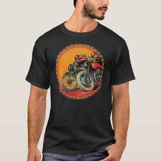 T-shirt coureurs vintages de moto