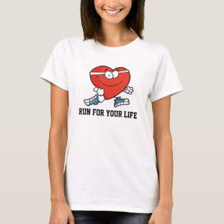T-shirt Courez pour votre mois sain de coeur de la vie