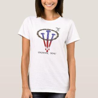 T-shirt Couronne d'épine des Etats-Unis Pâques, clous et