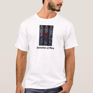 T-shirt Couronnement d'art en verre souillé de Mary