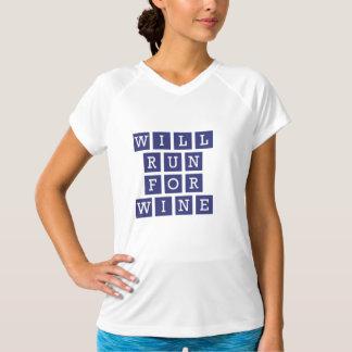 T-shirt Courra pour la marine drôle de typographie de vin