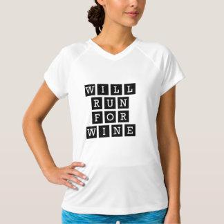 T-shirt Courra pour le noir drôle de typographie de vin