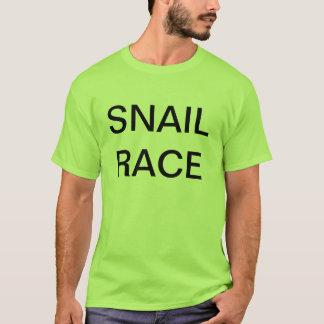 T-shirt course d'escargot