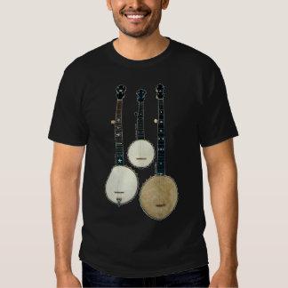 T-shirt court foncé de la douille de 3 hommes de