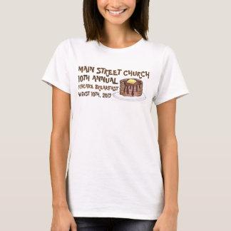 T-shirt Coutume de Social de petit déjeuner de crêpe de la