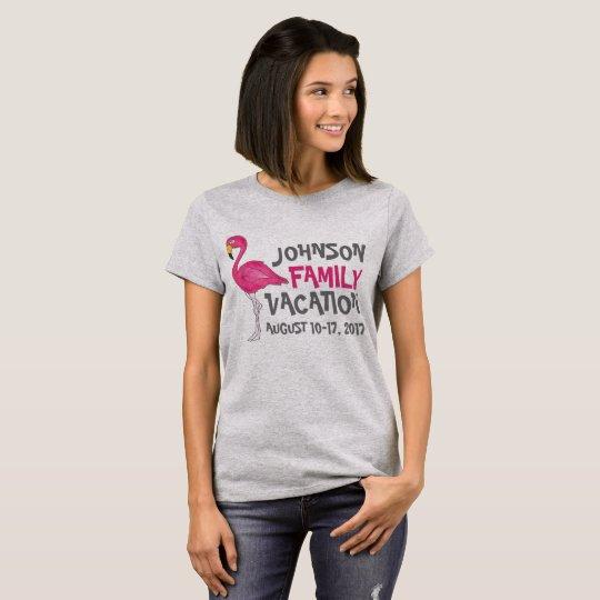 T-shirt Coutume tropicale de vacances de famille d'oiseau
