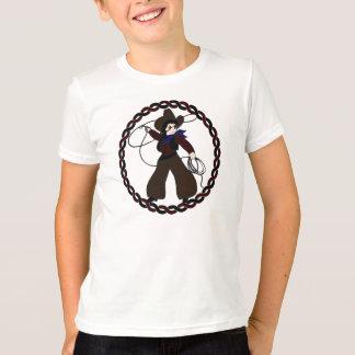 T-shirt Cow-girl mignonne à l'intérieur d'un anneau de