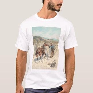 T-shirt Cowboy avec le cheval dans Arroyo… (1324)