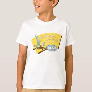 T-shirt Coyote du Wile E et point culminant de la ROUTE