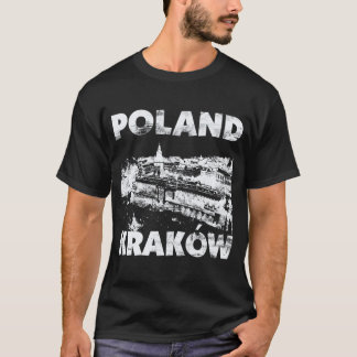 T-shirt Cracovie, Pologne sur l'obscurité