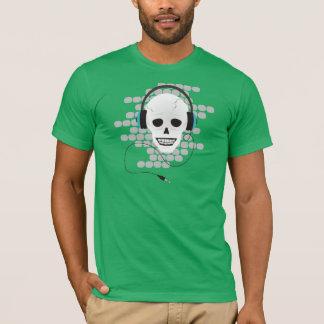 T-shirt Crâne avec des écouteurs