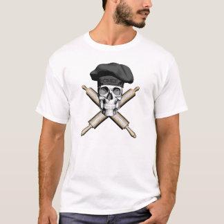 T-shirt Crâne de Baker et goupilles : Noir