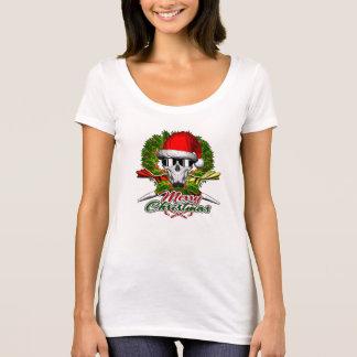 T-shirt Crâne de chef de pâtisserie de Père Noël : Joyeux