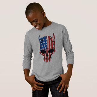 T-shirt Crâne de drapeau américain