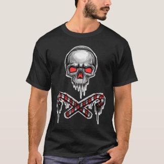 T-shirt Crâne de Noël et cannes croisées