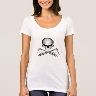 T-shirt Crâne de soudeuse et torches croisées