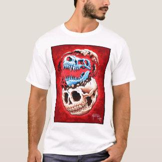 T-shirt Crâne d'humain et de dinosaure