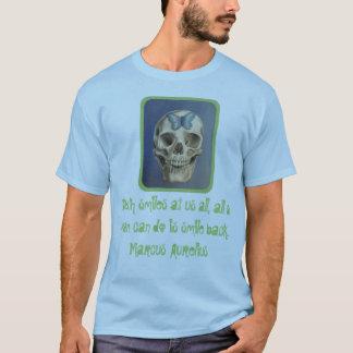 T-shirt Crâne et chemise stoïque de citation