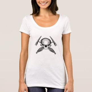 T-shirt Crâne et marteaux croisés de soudeuses