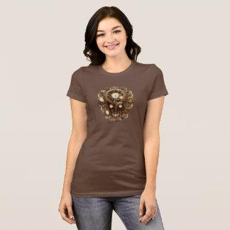 T-shirt Crâne et vitesses de Steampunk
