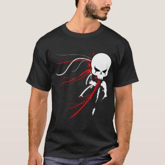 T-shirt Crâne rouge de Cyber (obscurité seulement)