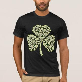 T-shirt Crânes de shamrock de jour de la St Patrick