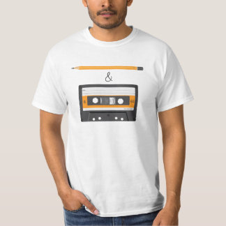 T-shirt Crayon et énigme compacte de cassette