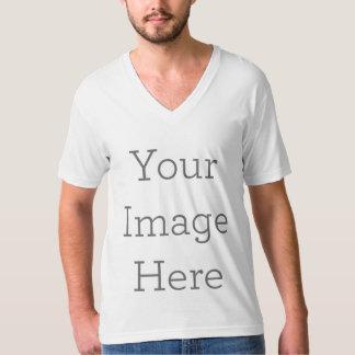 T-shirt Créez le V-cou américain de l'habillement de vos