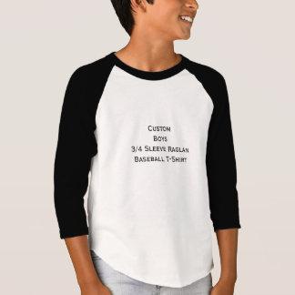 T-shirt Créez les garçons faits sur commande 3/4 pièce en