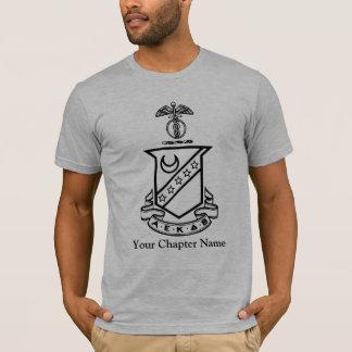 T-shirt Crête de sigma de Kappa - noire et blanche