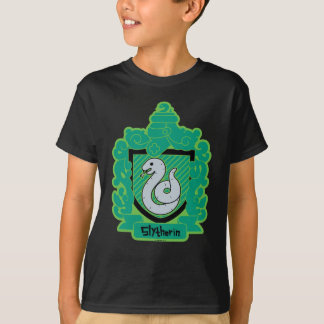 T-shirt Crête de Slytherin de bande dessinée