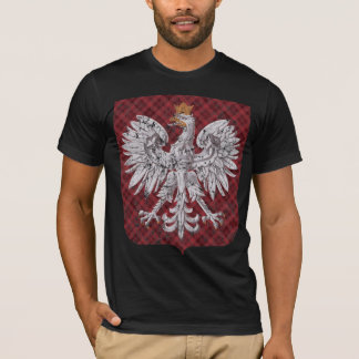 T-shirt Crête polonaise de plaid d'Eagle