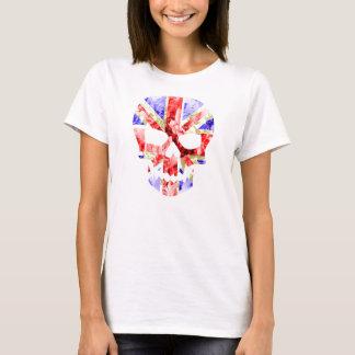 T-shirt cric floral des syndicats, CRÂNE d'UNION JACK