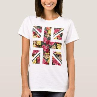 T-shirt cric floral des syndicats, le drapeau des