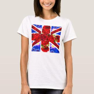 T-shirt cric floral des syndicats, unionjack frais, cric à
