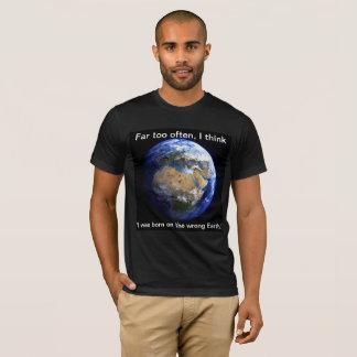 T-shirt Crise sur terre là où