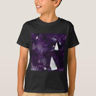 T-shirt cristal en verre pourpre