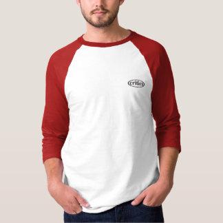 T-shirt Critiques 3/4 pièce en t rouge