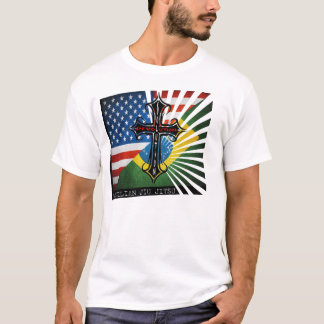 T-shirt croisé de drapeaux de BJJ Fuzion