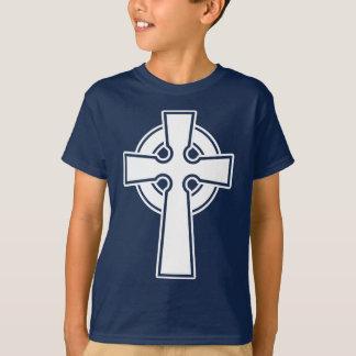 T-shirt Croix celtique simple dans le blanc