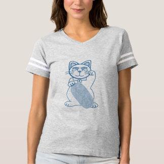 T-shirt Croquis bleu de Maneki Neko